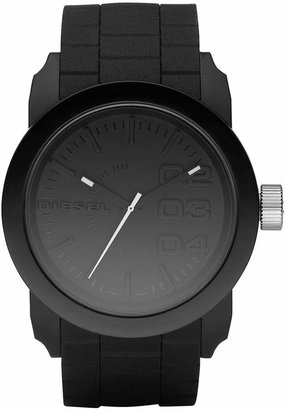 Diesel Unisex Black Silicone Strap Watch 44mm DZ1437