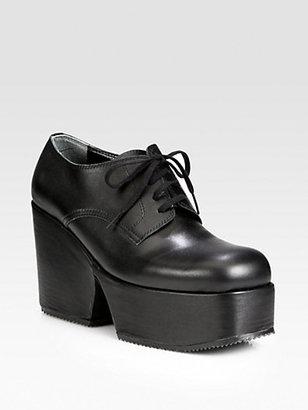 Comme des Garcons Leather Lace-Up Platform Oxfords