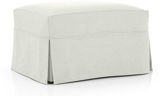 Crate & Barrel Willow Ottoman with Casters