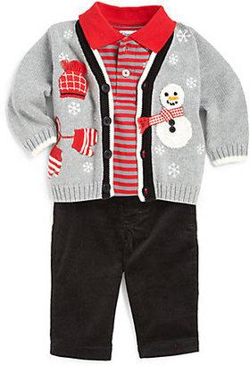Hartstrings Infant's Snowman Cardigan