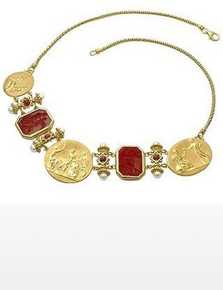 Tagliamonte Classics Collection - 18K Gold and Ruby Necklace