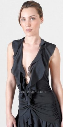 eDressMe Sexy Black Ruffle Dress