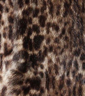 Saint Laurent Leopard-print marmot fur coat