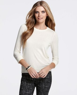 Ann Taylor Shoulder Button Sweater