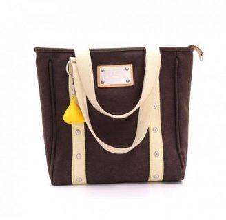 Louis Vuitton excellent (EX Cup Antigua Cabas MM 2006 Brown Canvas Tote Shoulder Bag