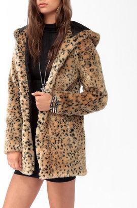 Forever 21 Wild Faux Fur Coat