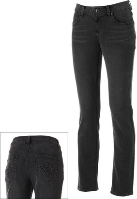 Sonoma life + style ® embossed skinny jeans - women's