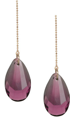 Patricia Nicolas Purple Single Swarovski Jewelled Earring