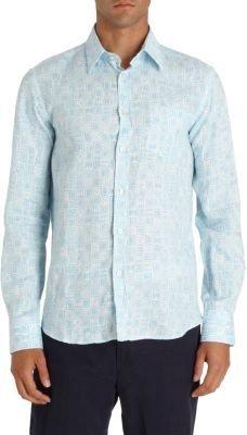 Vilebrequin Tiled Linen Shirt