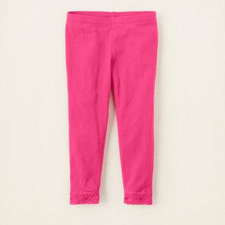 Children's Place Lace-trimmed capri leggings