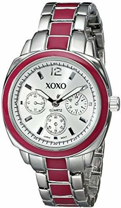 XOXO Women's XO111 Dial -tone and Pink Enamel Bracelet Watch
