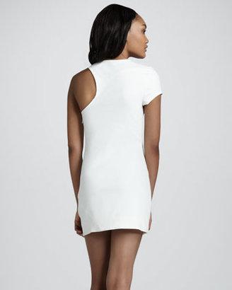 Aiko Chroma Laurette Single-Sleeve Dress