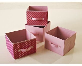 Kidspace Kids Ideal Canvas Set Of 4 Storage Boxes