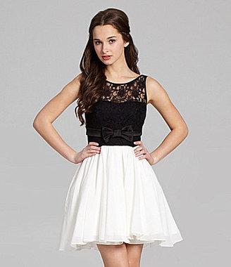 Jodi Kristopher Illusion Lace Dress