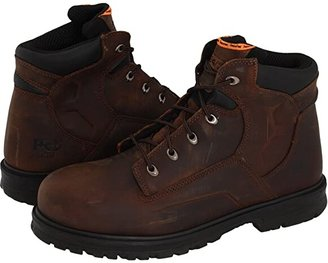 Timberland Magnus 6 Steel Toe (Brown Oiled Nubuck Leather) Men's Work Boots