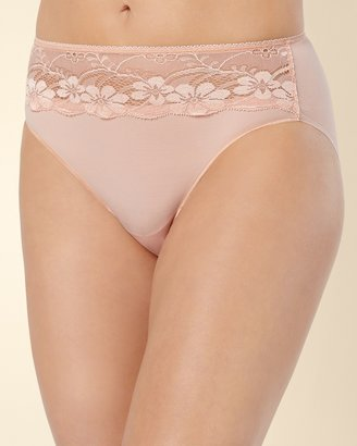 Soma Intimates Vanishing Edge Microfiber with Lace High Leg Brief