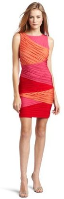 BCBGMAXAZRIA Women's Debra Colorblock Wrap Dress