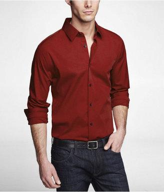 Express Extra Slim Fit 1mx Stretch Cotton Shirt