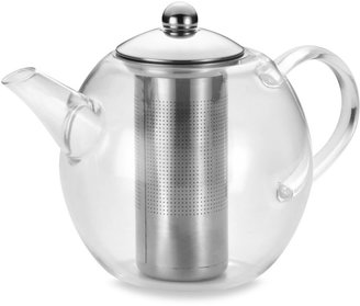 Bonjour 4-Cup Round Glass Teapot with Shut-Off Infuser