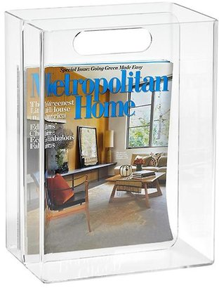 Container Store Magazine Tote Clear