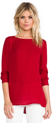 Theory Double Georgette Toska Top