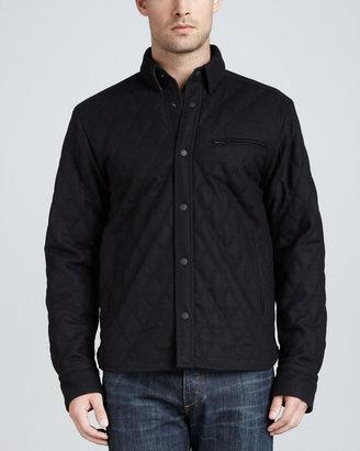 Rag and Bone Rag & Bone Holme Quilted Shirt Jacket, Navy