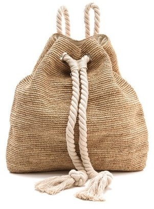 Bop Basics Raffia Crochet Backpack