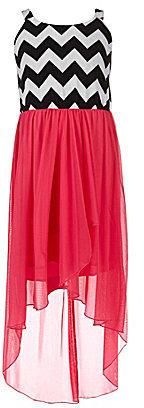 Ruby Rox 7-16 Chevron Hi-Low Hem Dress
