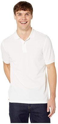 Fred Perry Twin Tipped Shirt (White/White) Men's Short Sleeve Knit