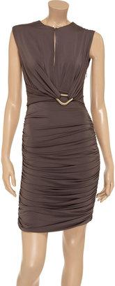Halston Ruched jersey dress