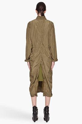 Damir Doma Khaki green Cosmos Unisex Long Coat