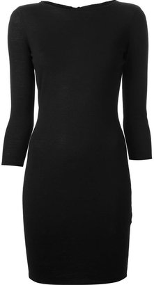Alexander McQueen tie-fastening bodycon dress