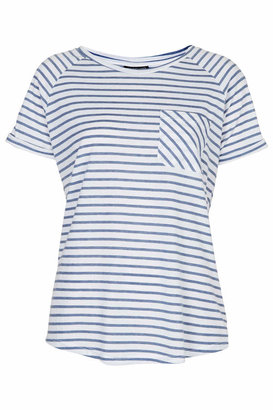 Topshop Jersey t-shirt with stripes. 65% polyester, 35% cotton. machine washable.