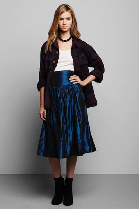 Urban Outfitters Vintage '80s Midnight Blue Gunne Sax Party Skirt
