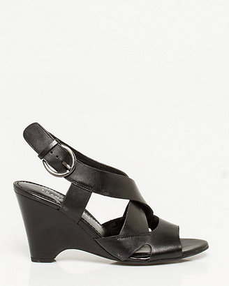 Le Château Leather Thick Strap Wedge