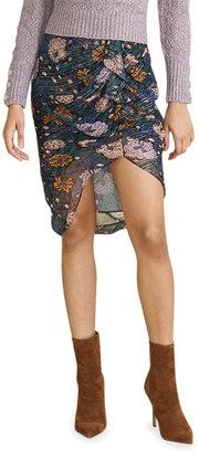 Veronica Beard Hazel Floral-Print Ruffle Skirt