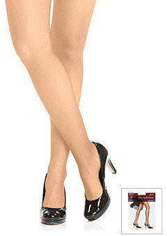 """Hanes Silk Reflections"""" Silky Sheer Sandalfoot Pantyhose with Control Top"""