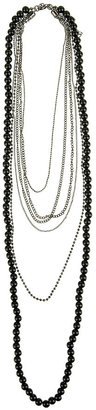 Forever 21 Bead & Chain Necklace