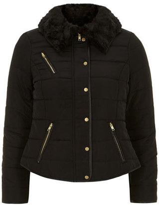 Puffa Petite faux fur trim jacket