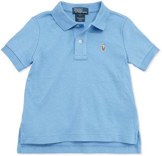 Ralph Lauren Short-Sleeve Cotton Polo, Blue, Toddler Boys' 2T-3T