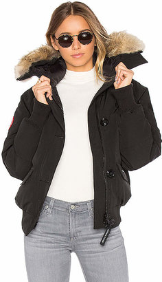Canada Goose Chilliwack Bomber with Coyote Fur in Black $795 thestylecure.com