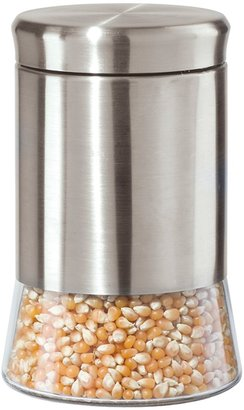 "Oggi 7"" Stainless Steel and Glass Canister"