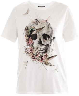 Alexander McQueen Dragonfly-skull boyfriend T-shirt