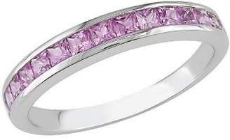 3/4 CT. T.W. Created Pink Sapphire Eternity Ring in Sterling Silver