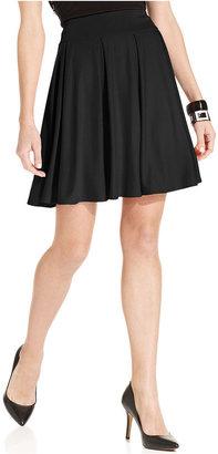 INC International Concepts Petite Skirt, Jersey Paneled Swing