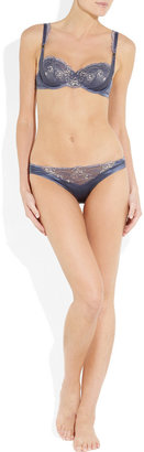 Elle Macpherson Intimates Obsidian Gloria underwired stretch-satin and lace bra