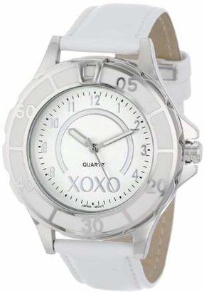 XOXO Women's XO3187 Dial White Strap Watch