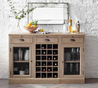 Pottery Barn Modular Bar Buffet with 1 Wine Grid