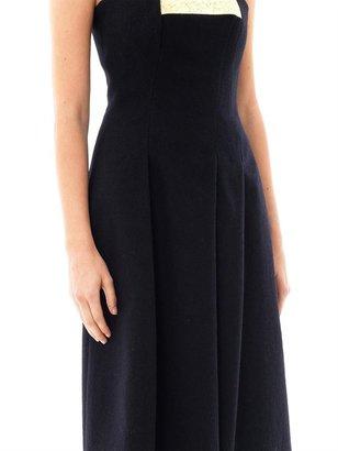 Jil Sander Blaisir strapless wool dress