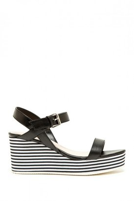 Qupid Alert Platform Wedge Sandal